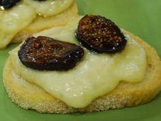 Brie, Fig & Truffle Honey Crostini