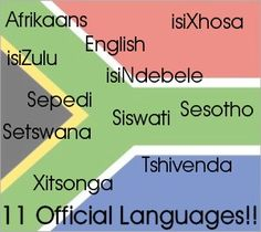 South Africa has 11 Official Languages BelAfrique - Your Personal Travel Planner - www.belafrique.co.za