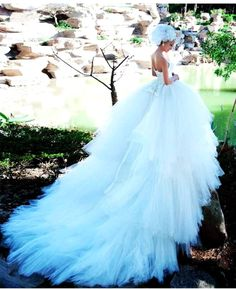 Lux Blue Wedding Dresses