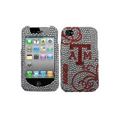 Texas A Aggies Blingz Rhinestone iPhone 4 Shell Case found on Polyvore