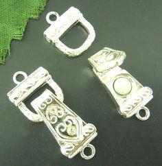 DoreenBeads Розничные 10 Sets Серебро Palted Rhinestone Магнитные Застежками 30x13 мм купить на AliExpress