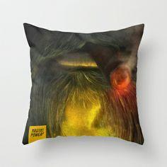 Brutal Beard Power Throw Pillow by Feelfactory - $20.00