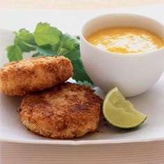 When making crab cakes, it's customary to keep the crabmeat in chunks. Here, it's best to break up some of the meat to keep the crisp patties together...