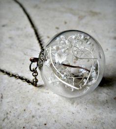 baby's breath terrarium pendant.