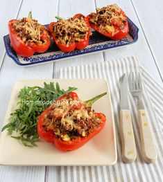 Stuffed peppers with
