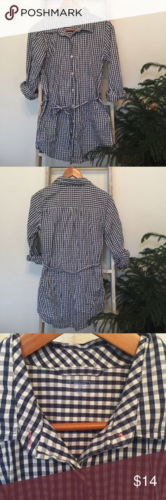 Gap Body Gingham Lounge Dress Small Really cute for lounging or layering over leggings GAP Dresses Long Sleeve