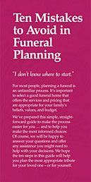 Learn what the ten biggest mistakes are in advance funeral planning