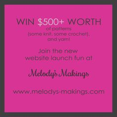 Enter to Win this awesome giveaway - including Berroco yarn - from Melody's Makings (ends 4/25)
