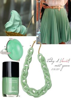 Mint green; new favorite color