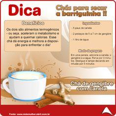 Aproveite o friozinho de hoje e se esquente com essa receita de chá que além de delicioso, ajuda a queimar gordurinhas !