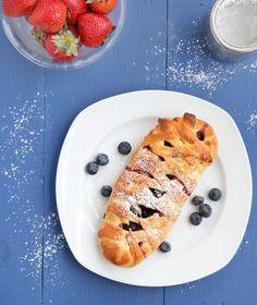 blueberry cheese brioche danish
