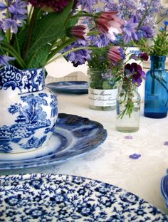 The wonderful thing about blue and white china is you can mix and match just about any patterns together.