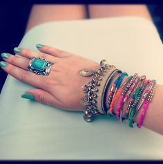 Fun armcandy colors Nails Jewelry Rings Bracelets