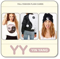 Fall Fashion Flash Cards