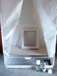 Use Dollar Store garment bag for a spray tent... - Click image to find more DIY & Crafts Pinterest pins