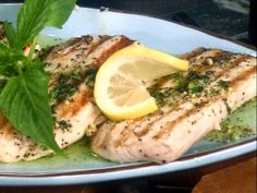 Seared Mahi Mahi with Zesty Basil Butter recipe  via Food Network