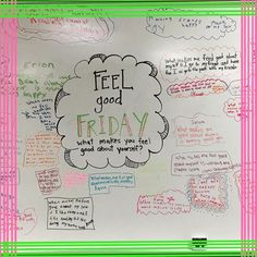 Feel good Friday - what makes you feel good about yourself? Future Classroom, School Classroom, Classroom Ideas, Classroom Inspiration, Classroom Organization, Classroom Management, Behavior Management, Leadership, Morning Activities