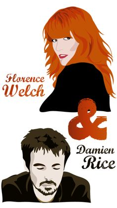 Illustration © Sapristi - Florence Welch & Damien Rice