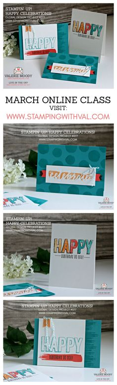 Stampin' Up! UK - Cards, Ideas & Tutorials from Stamping With Val. Shop Online Here 24/7 - Happy Celebrations