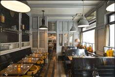 Stephen Gambrel has ventured into commercial design with Cole's Resturaunt in Greenwich Village, NYC and I love the outcome photographed here by Adrian Wilson