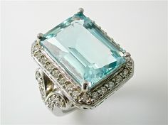 "aquamarine, one of my favorite stones.  My grandfather refered to them as a ""piece of the Oklahoma sky"""