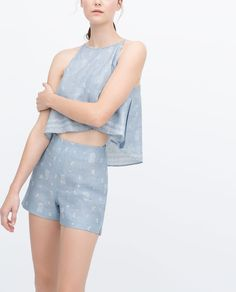 Image 3 of LINEN BERMUDAS from Zara