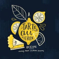 Illustration hand drawn typography design lemon