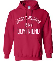 Jacob Sartorius is my BoyfriendåÊHoodieåÊBy Tshirt Unicorn Generous fit. Soft, sturdy, easy to move around in, all the while looking good. Air Jet Spun Yarn. Do