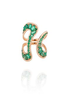 Brand new Fernando Jorge Stream emerald ring in rose gold - I don't think there's a single piece of Fernando J jewellery I don't love.