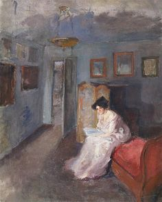 The Artist's Wife Albert de Belleroche (British, Oil on canvas. This painting shows the artist's wife in his St. John's studio. It has been suggested that Belleroche was the. Portrait Of Madame X, Intro To Art, Famous Portraits, Pre Raphaelite, Book Images, Cool Artwork, Art Boards, Oil On Canvas, Modern Art