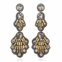 I'd kill for these.   Casablanca Drop Earrings   Suzanna Dai
