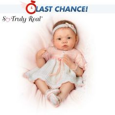 So Truly Real Peaches And Cream Baby Girl Doll -  	     	              	View Sale Price   When she first heard news that a baby girl was on the way, grandma began crocheting an outfit in shades of peaches and cream…every stitch saying more than words ever could. Dressed from head to toe in an 8-piece layette set, meet this So Truly...