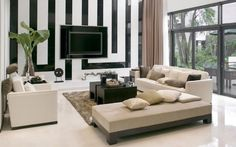 Wall-Mounted TVs as an Living Room Decor. 15 Inspirations For Modern Look It is The Living Room Next For Designing.