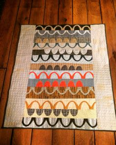 Catenary Quilt.  Made by White Hills Quilts. Baby quilt. Carolyn Friedlander Doe fabric.