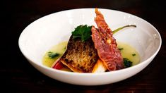 Crispy Skin Snapper with Chilli and Coriander Broth and Chilli Salad