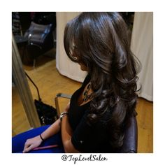 We are crazy about this look. Beautiful bouncy blow dry. Come stop by #TopLevelSalon for this gorgeous look. Check us out on Instagram and Facebook @ TopLevelSalon
