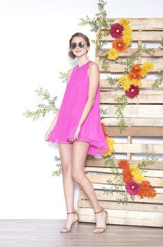 ASKARI Dakota Dress   Silk chiffon a-line dress