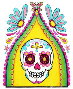 Sugar Skull In Nicho By Thaneeya McArdle From Thaneeyas Day Of The Dead Coloring