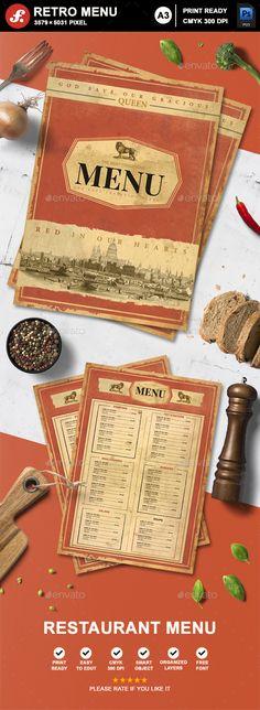 Retro Menu - Food Menus Print Templates
