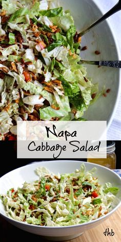 Napa Cabbage Salad ~ with toasted nuts & sweet soy dressing