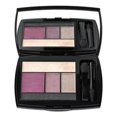Lancome Color Design palette in Mauve Cherie  have midnight rush,amethyst glam,pink envy,coral crush,mauve cherie,and teal fury