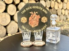 Monogrammed Gift for Him, Whiskey Decanter Set Glasses, Fathers Day, Decanter Gifts For Him, Housewarming, Groomsman, Custom Wedding Gift, Whiskey Gift, Whiskey Decanter, Whiskey Decanter Set