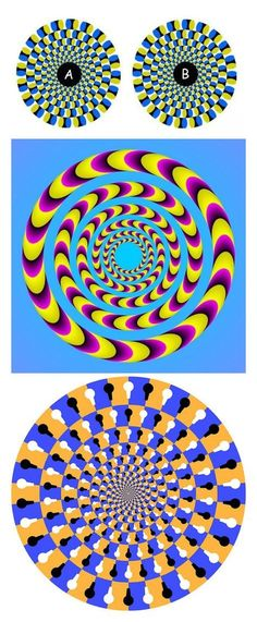 Optical Illusions - Spinning Optical Illusions from my Illusions Board Eye Illusions, Cool Optical Illusions, Optical Illusion Art, Op Art, Eye Tricks, Mind Tricks, Magic Tricks, Illusion Kunst, Magic Eyes