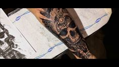 biomechanical skull tattoo exclusink promo video!
