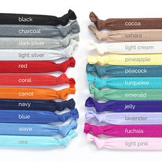Create your own set of headbands by picking the 3 colors you want in your set. Color Mixing Guide, Color Mixing Chart, Colour Pallete, Color Combinations, Colour Colour, Cmyk Color Chart, Different Types Of Colours, Color Psychology, Elastic Headbands