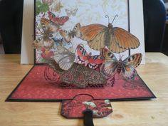 Beautiful butterfly pop-up slider card