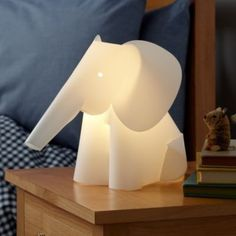Elephant nursery lamp- could probably make at home for cheap!