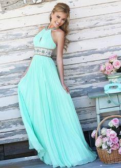 Vestido largo de gala quilt