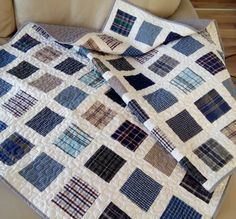 recycled mens shirt quilts | Sheets and Shirts on the Door, made ... : quilt from shirts - Adamdwight.com