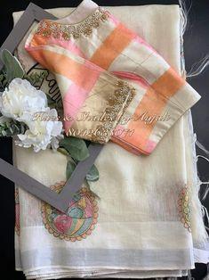 Saree Jacket Designs, Saree Blouse Neck Designs, Fancy Blouse Designs, Blouse Patterns, Traditional Blouse Designs, Cotton Saree Designs, Designer Party Wear Dresses, Amman, Work Blouse